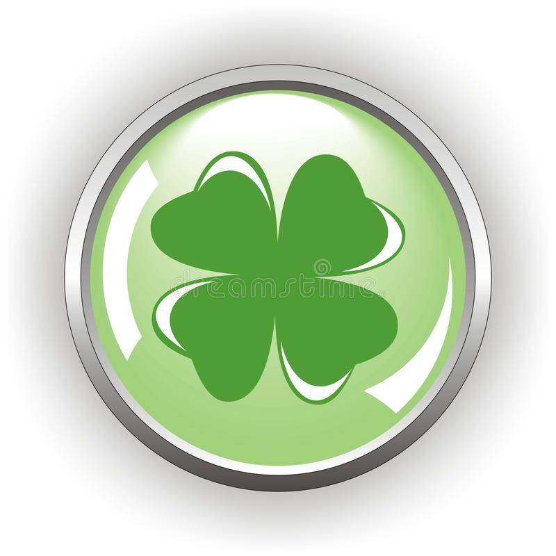 Download Clover or shamrock button stock vector. Illustration of glass - 22507495
