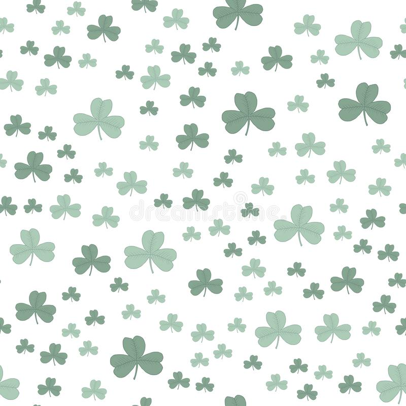 Clover three-leaf green pattern seamless. vector illustration