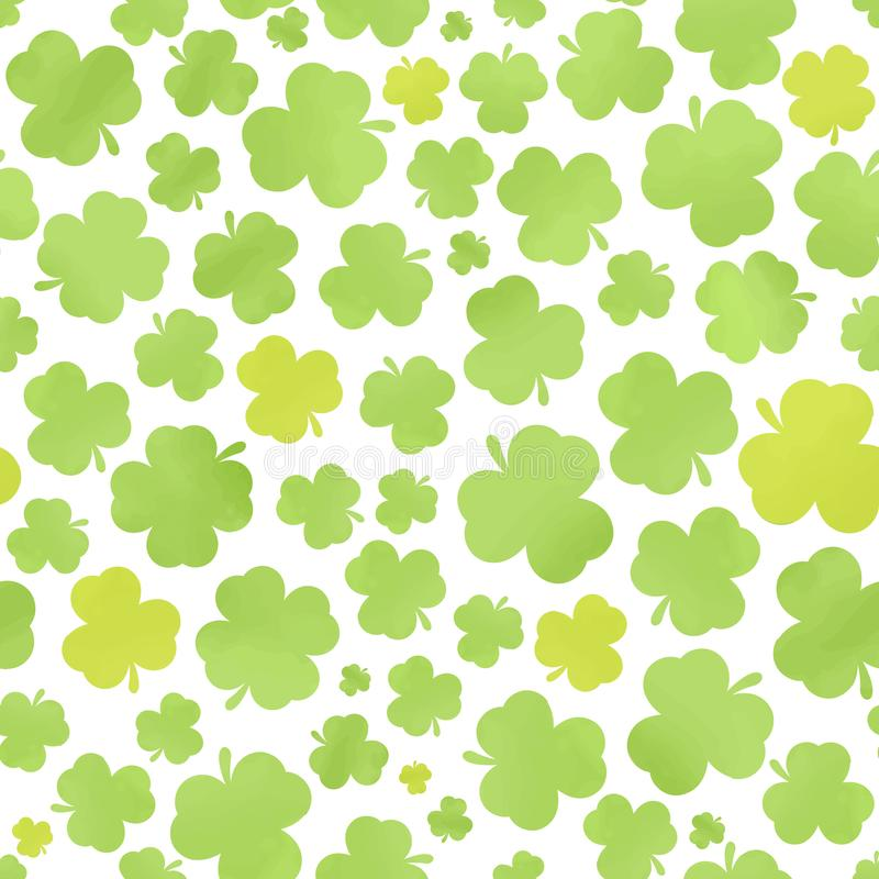 Clover Wallpaper Seamless Pattern Stock Vector