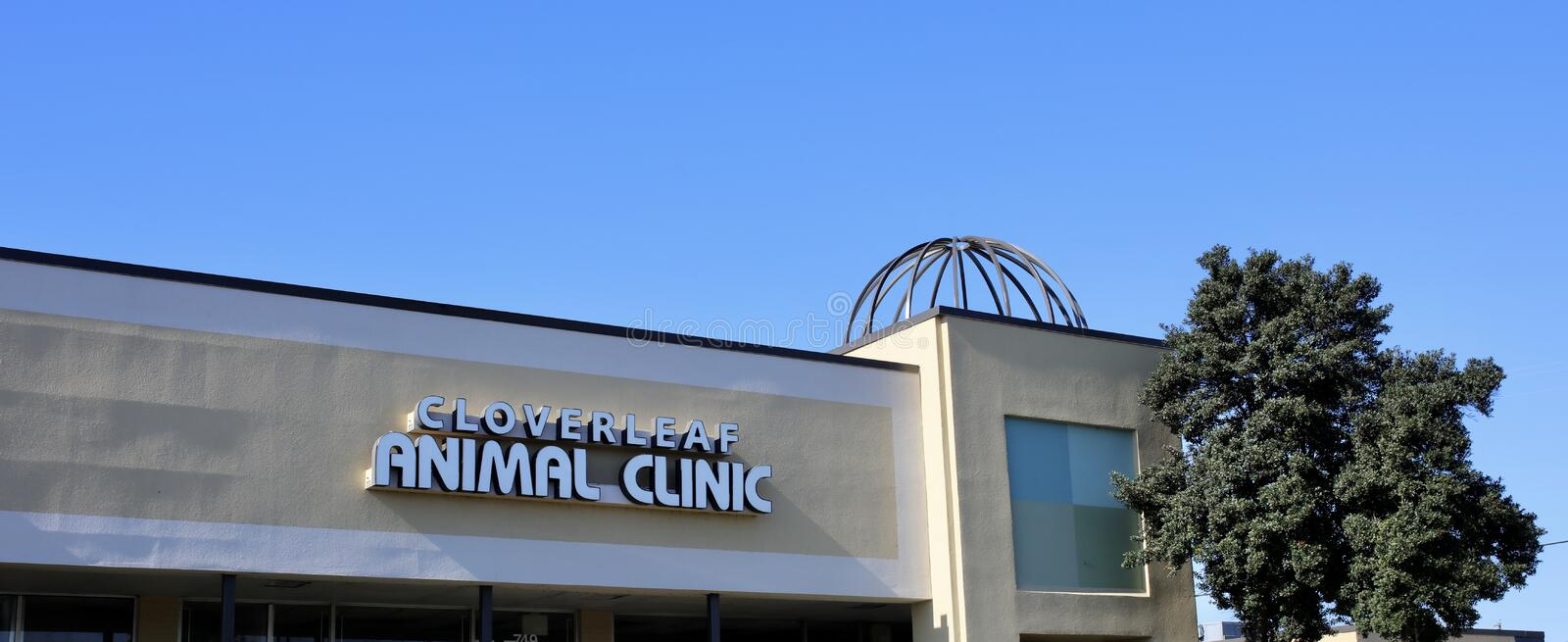 Cloverleaf Animal Clinic, Memphis, TN. Cloverleaf Animal Clinic provides the best veterinary hospital care for your cat, dog or other pet royalty free stock photos