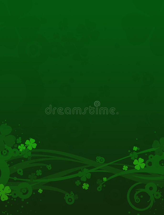 Clovers background, St. Patrick's day vector illustration