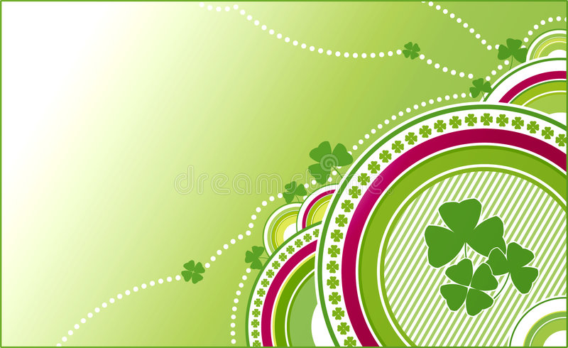 Clovers green background royalty free illustration