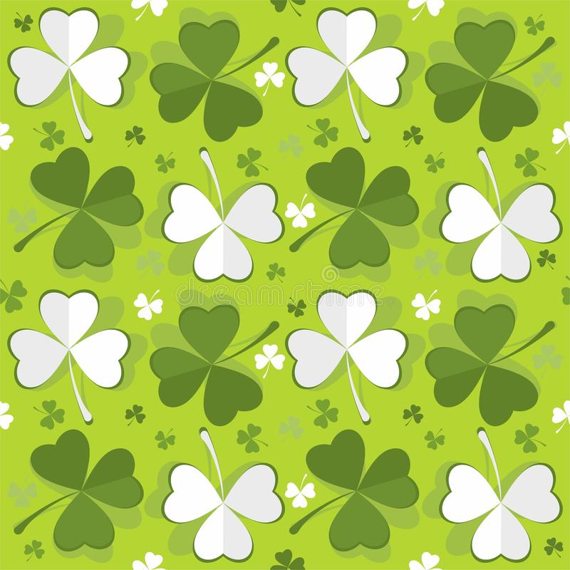 Clover green leafs seamless pattern - vector. Abstract graphic seamless pattern with clovers. Also available as a Vector. The vector version can be scaled to any vector illustration