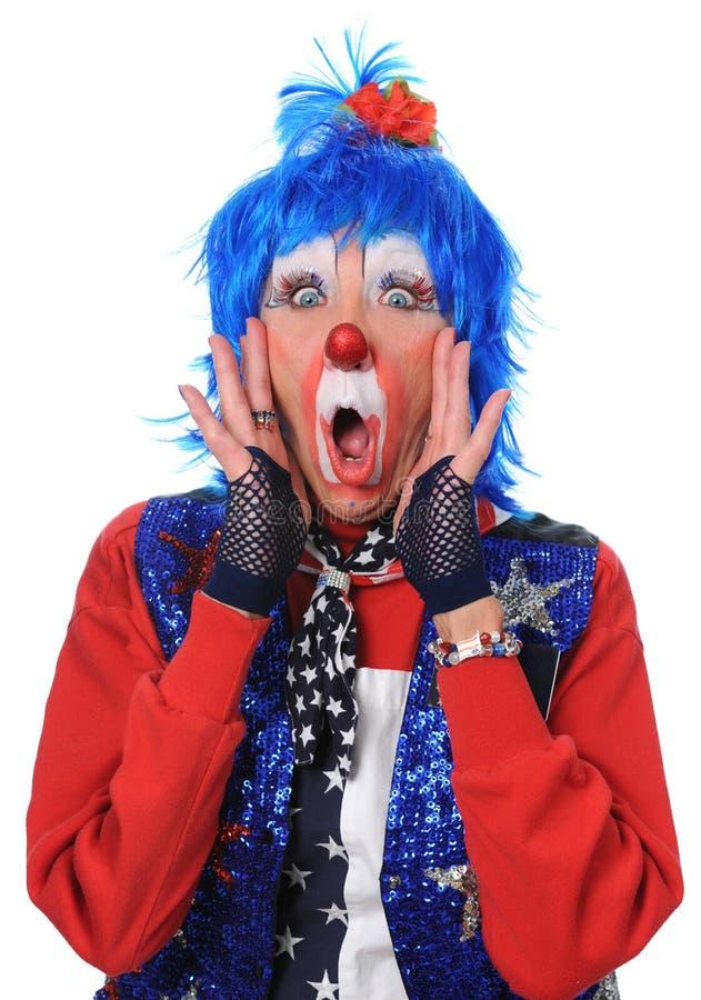 Clown überrascht lizenzfreies stockbild