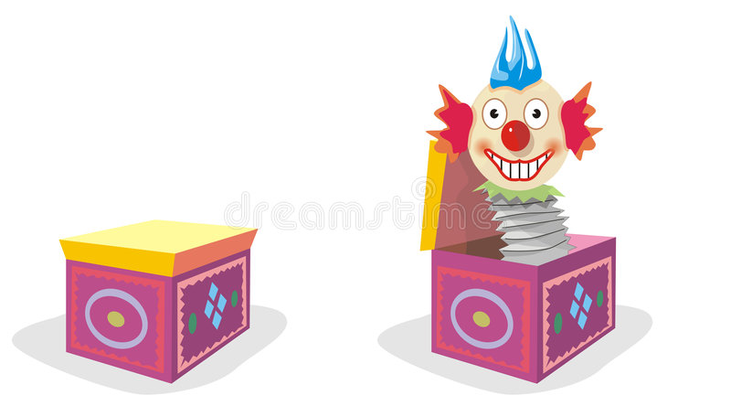 Clown royalty-vrije illustratie