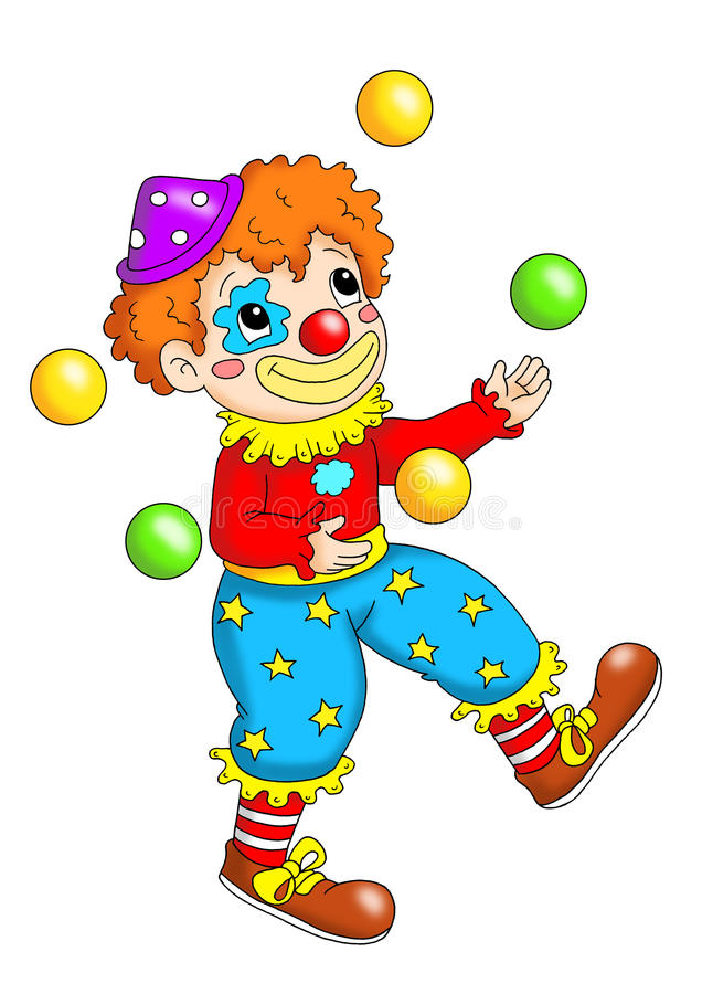 Clown illustration libre de droits
