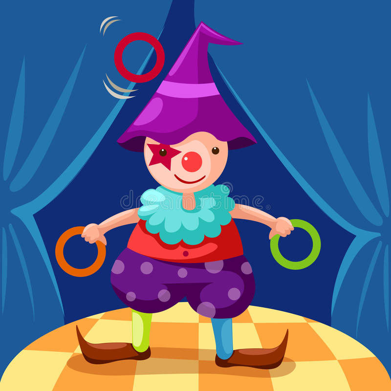 Download Clown stock vector. Illustration of figure, circus, color - 16325392