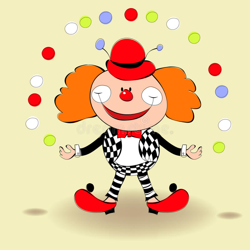 Download Clown stock vector. Image of face, figure, color, funny - 18515813
