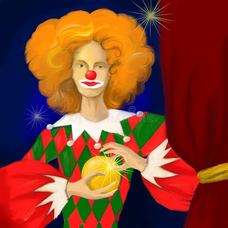 Download Clown stock illustration. Image of drawing, performing - 18918236