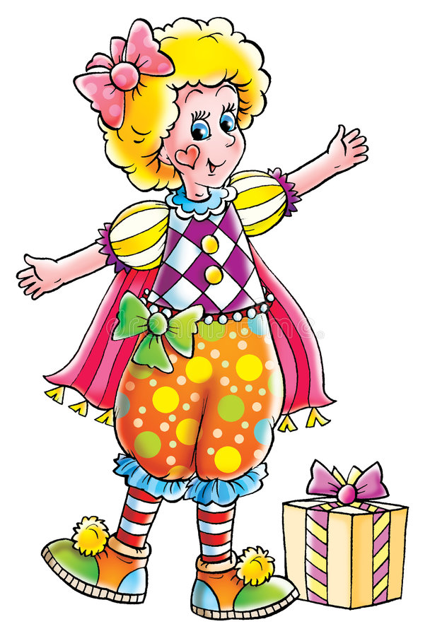 clown stock illustrationer