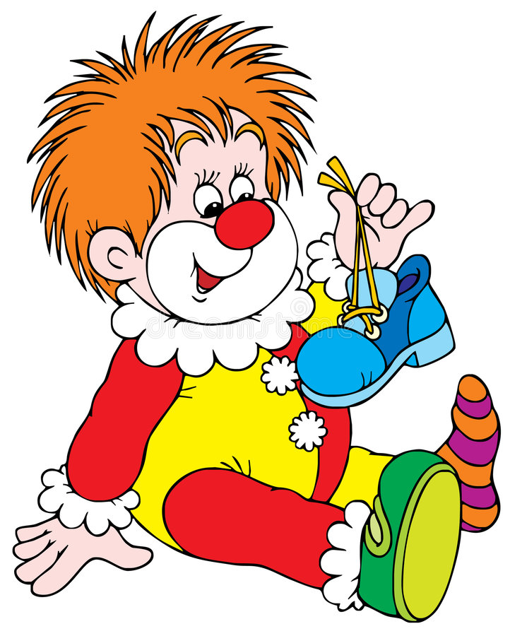 Clown stock illustration