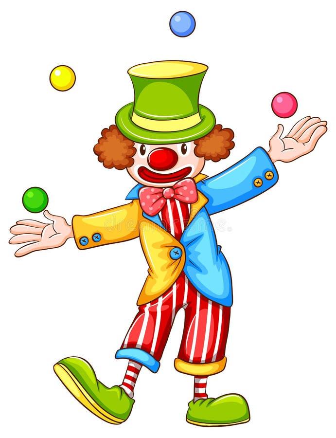 Download Clown illustration de vecteur. Illustration du bille - 45366188
