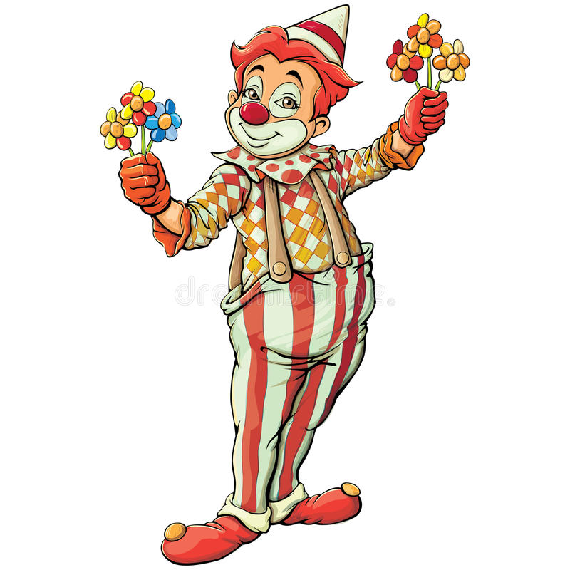 clown royaltyfri illustrationer