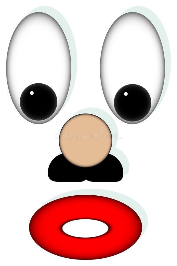 clown royaltyfri illustrationer