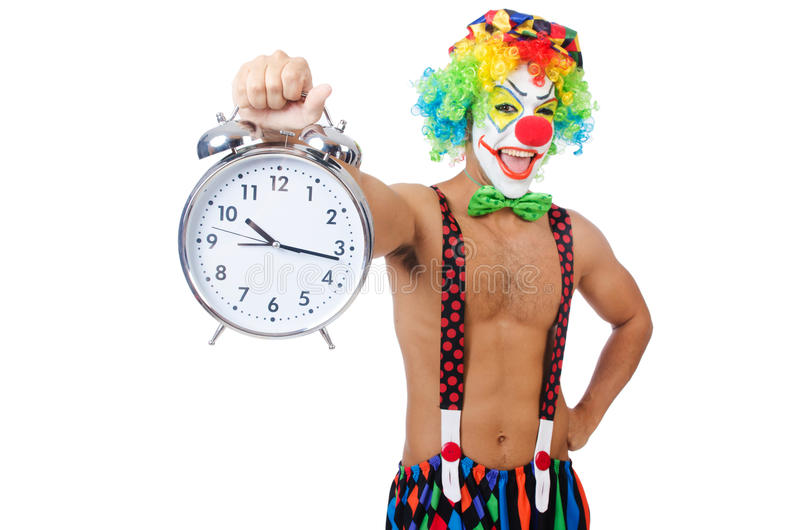 Download Clown with alarm clock stock photo. Image of caucasian - 33222812