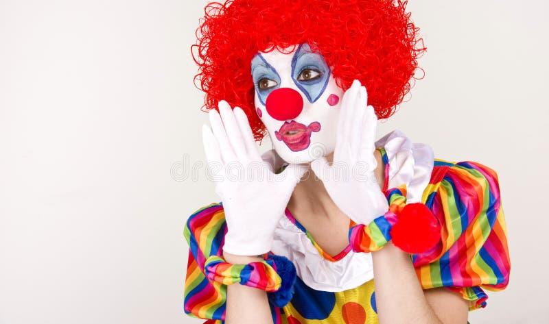Clown-Ansage stockfotos