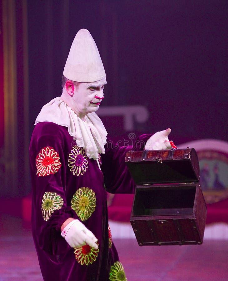 Clown au spectacle de cirque images stock