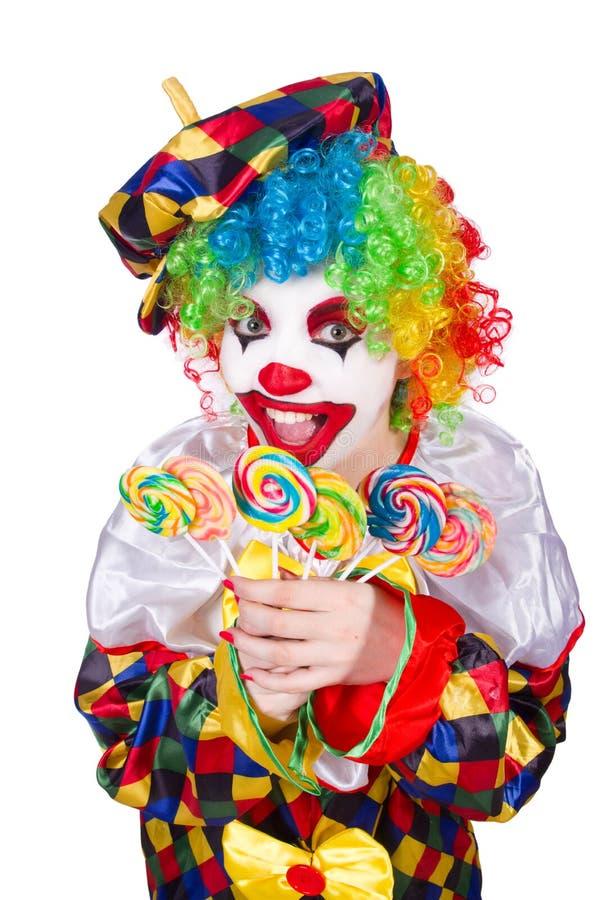 Clown avec des lucettes images libres de droits