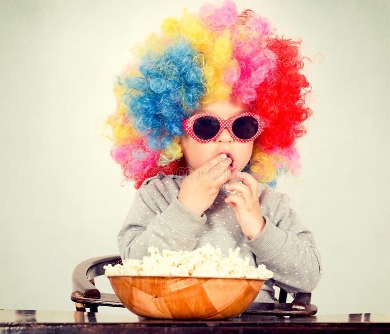 Clown avec du maïs de bruit image libre de droits