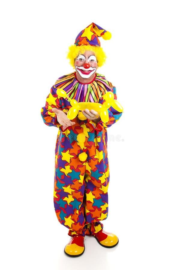 Clown avec l'animal FB de ballon photo libre de droits