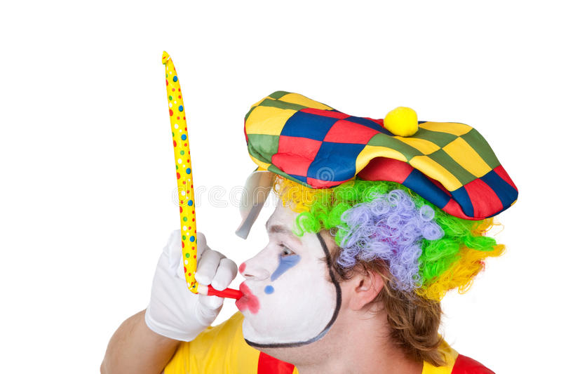 Clown avec la pipe photographie stock