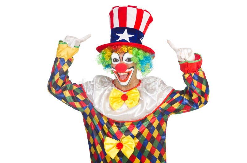 Clown avec le chapeau image stock