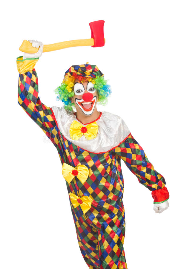 Download Clown with axe stock photo. Image of male, buffoon, formal - 33223072