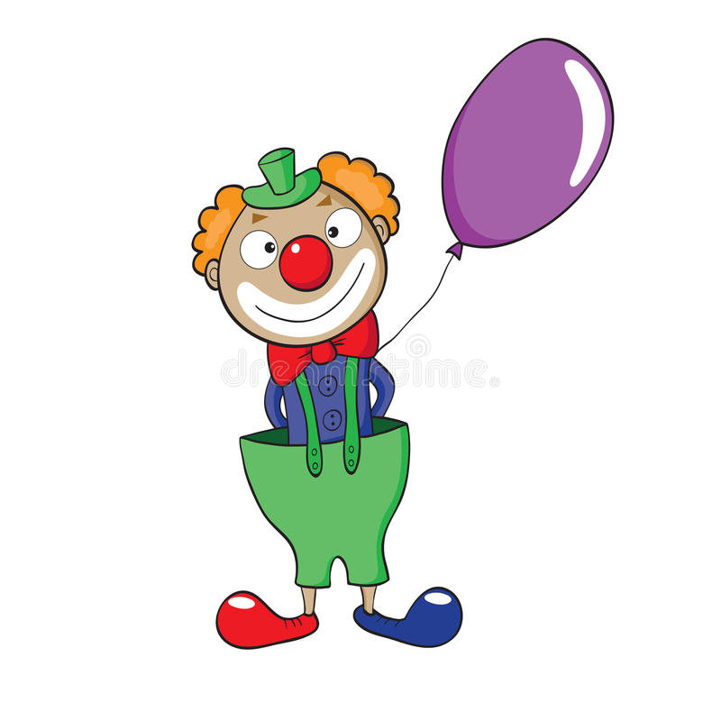 Clown With Balloon Stock Image