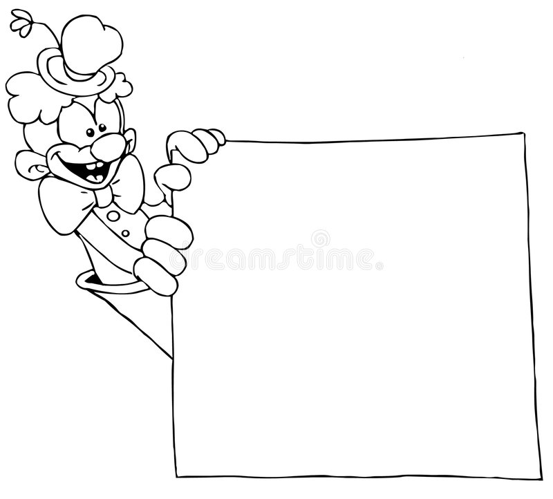 Clown with banner vector illustration