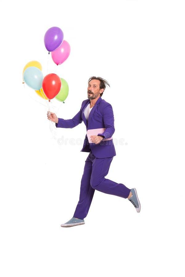 Clown beau avec des ballons photos libres de droits