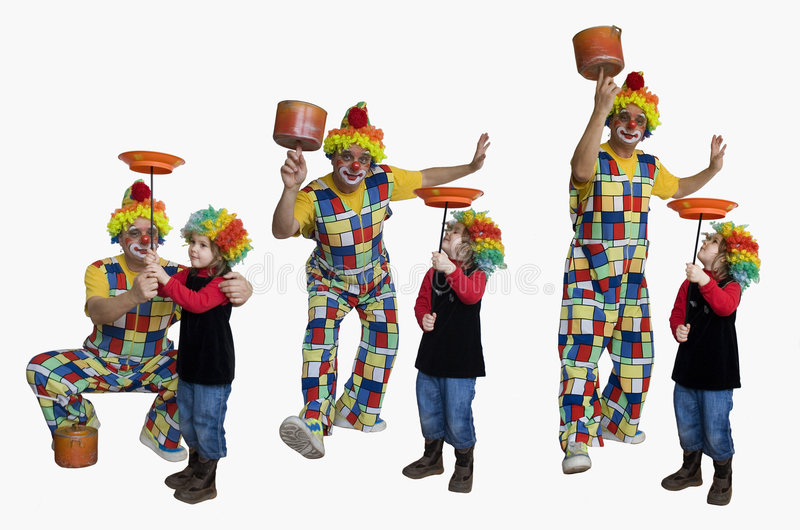 Clown bilden trics lizenzfreie stockbilder