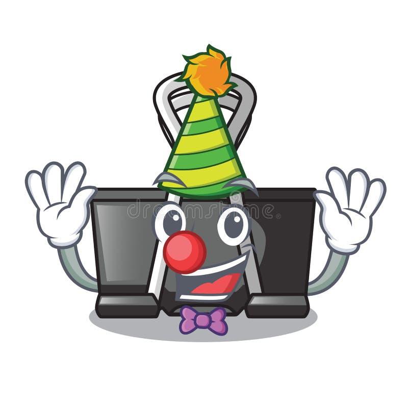 Clown binder clip for charcter on documents. Vector illustration vector illustration