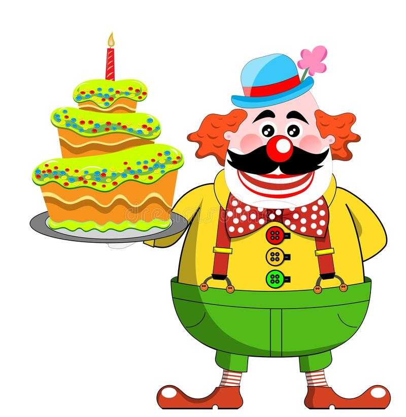 Download Clown with Birthday Cake stock illustration. Illustration of birthday - 27409648