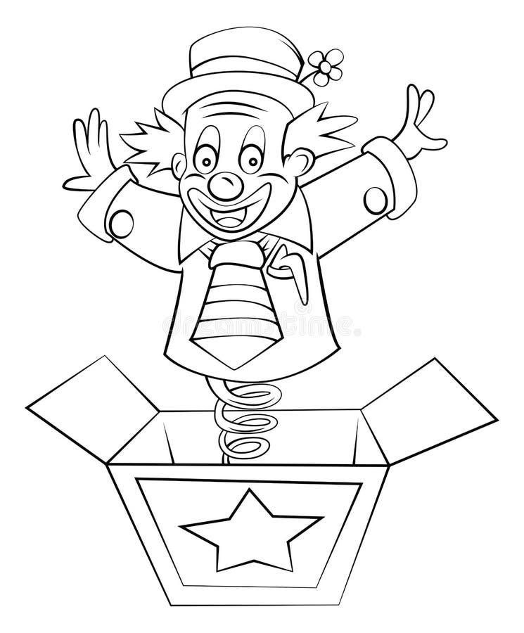 Clown Box lizenzfreie abbildung