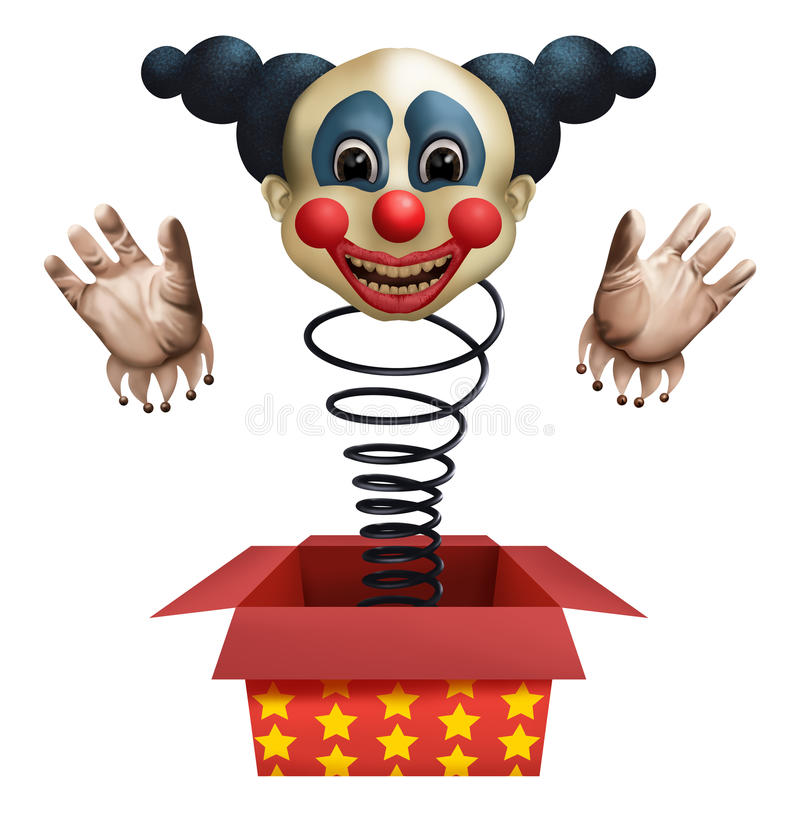 Clown from the box royalty free stock image