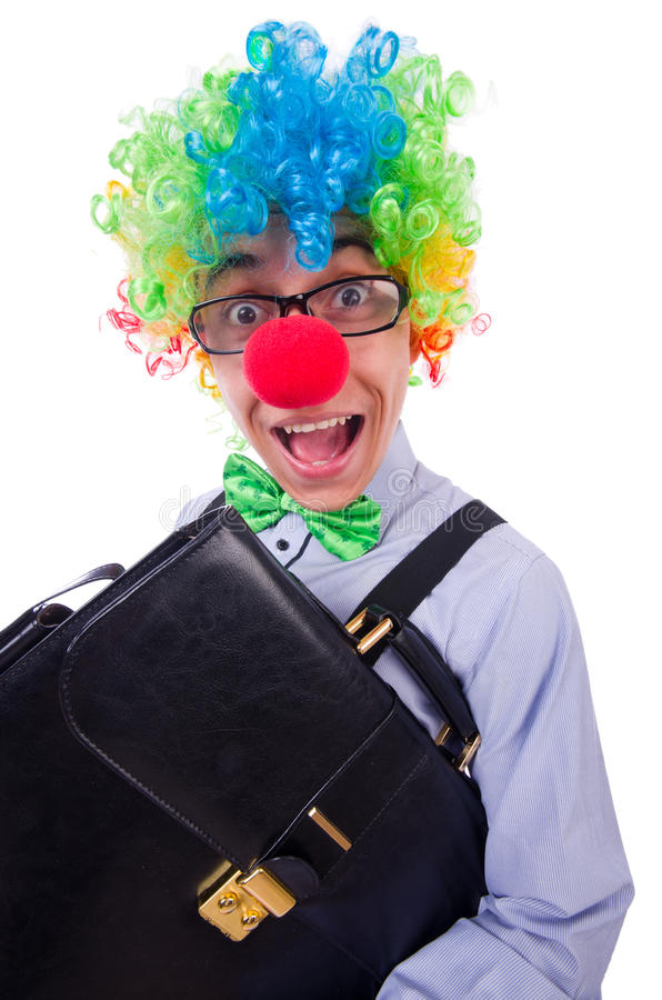 Download Clown businessman stock image. Image of happy, humourous - 32480789