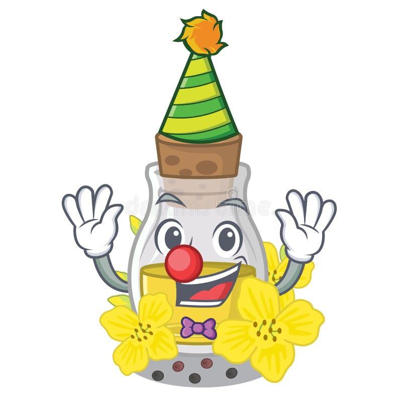 Clown Canola-Samenöl auf einer Karikatur stock abbildung