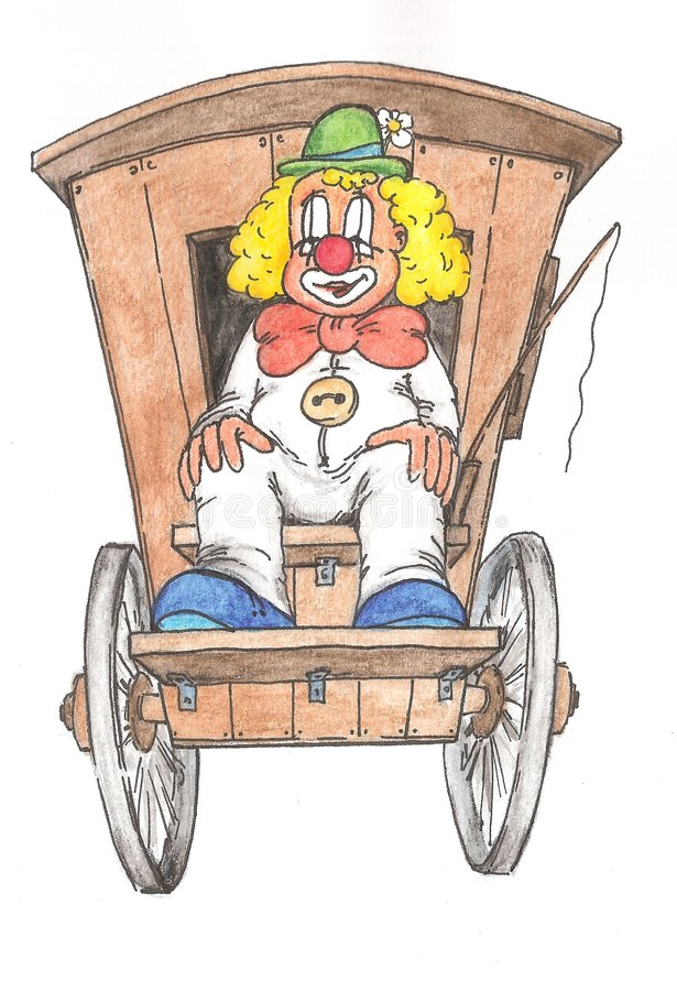 Download Clown by the Car stock illustration. Illustration of circ - 6741670