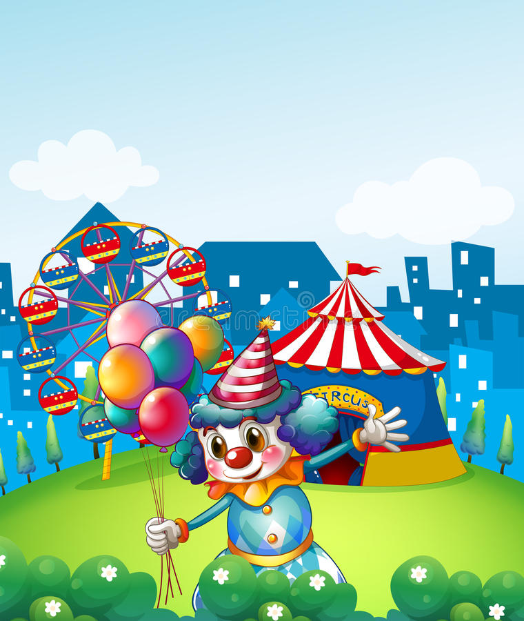 Download A Clown At The Carnival With Balloons Stock Vector - Image: 33098879