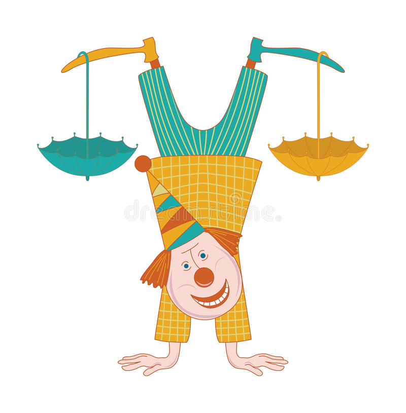 Download Clown stock vector. Image of joker, greeting, performer - 33618509