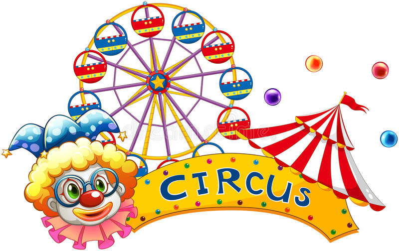 Download A Clown Beside A Circus Signboard Stock Photo - Image: 31791670