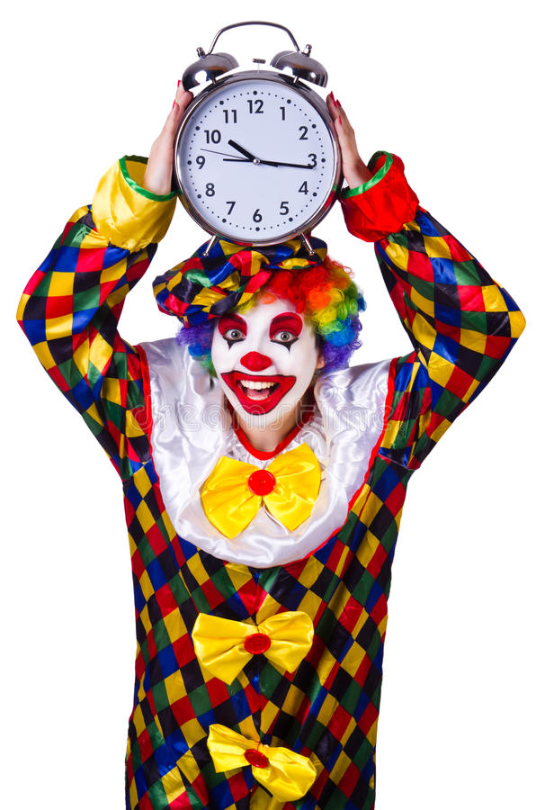 Download Clown with clock stock photo. Image of funny, caucasian - 32221530