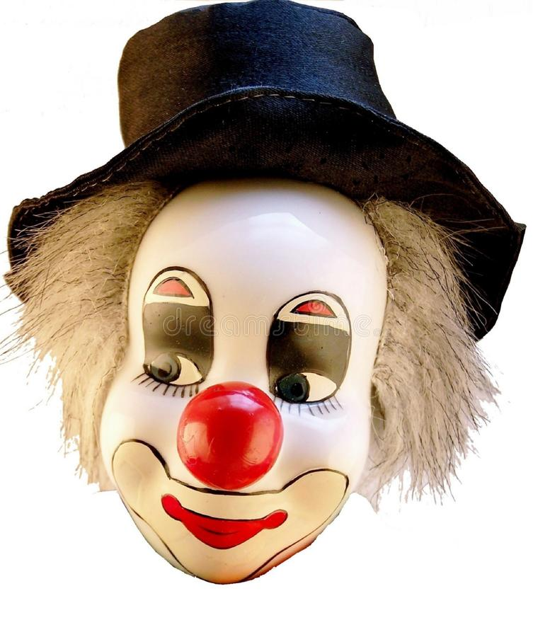 Clown, clown head isolated on a white background. stock photo