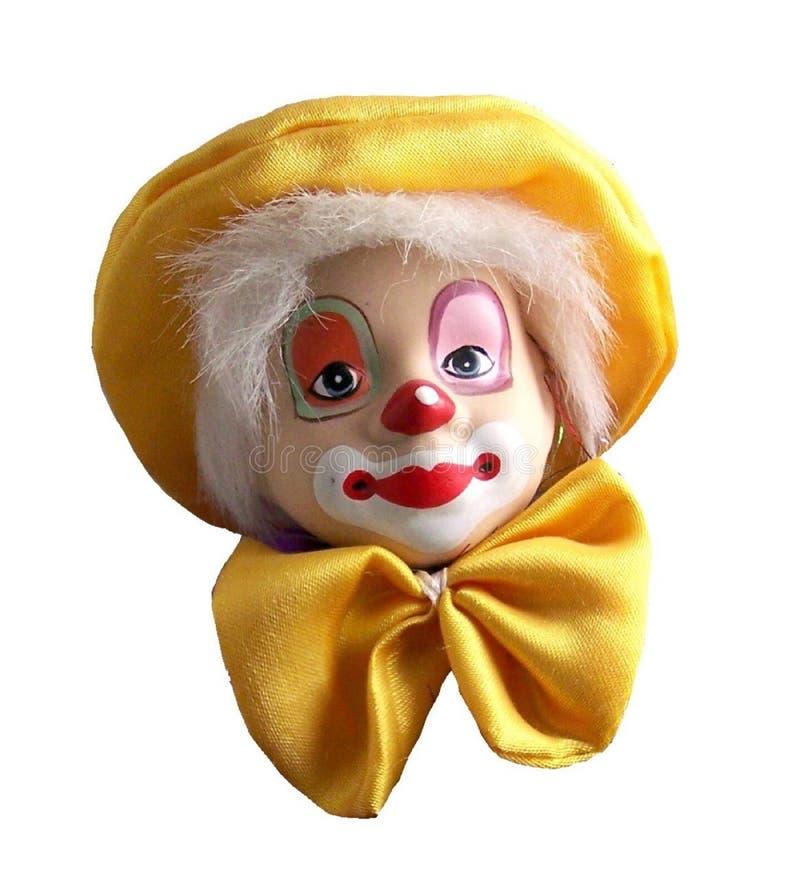 Clown, Clownkopf lokalisiert auf einem weißen Hintergrund stockbilder