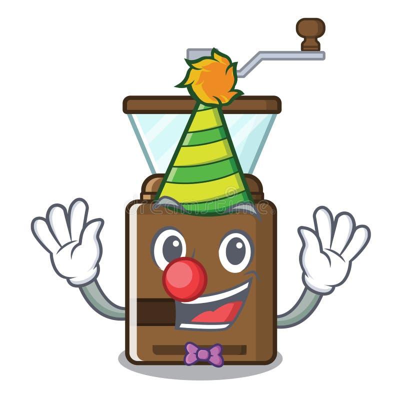 Clown coffe Schleiferspielwaren in der Karikaturform lizenzfreie abbildung