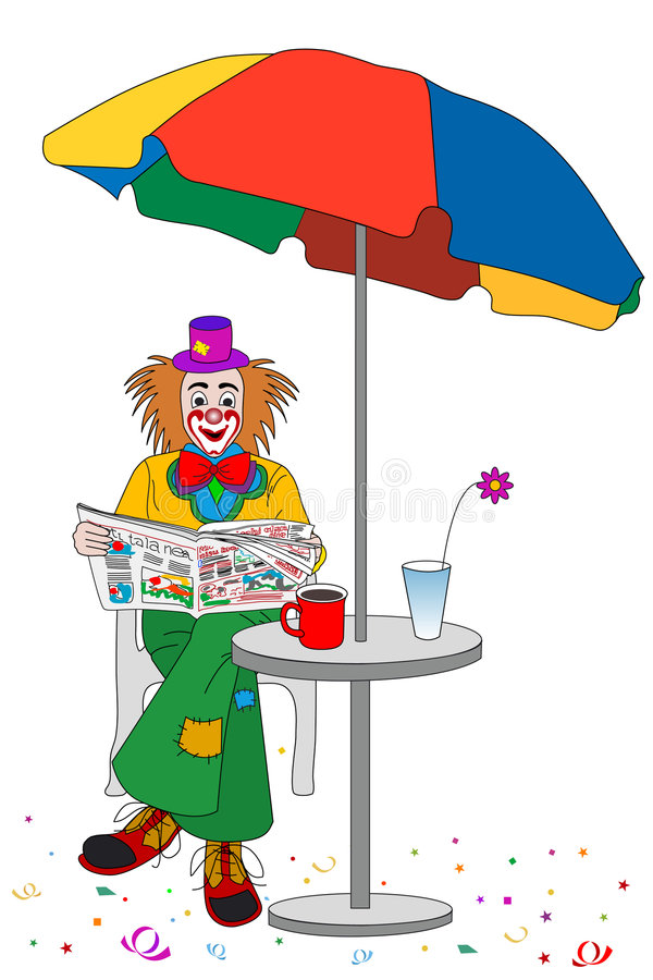 Free Clown Coffee Breaks Stock Photos - 1583003