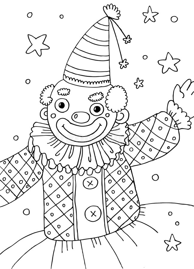 Clown Coloring Page stock illustration. Illustration of printable ...