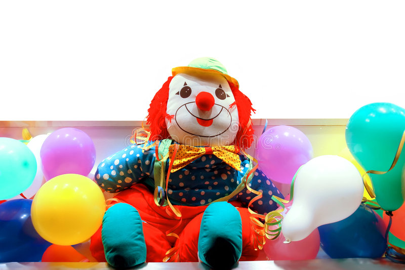 Download Clown Between Coloured Balloons Stock Image - Image: 1932655