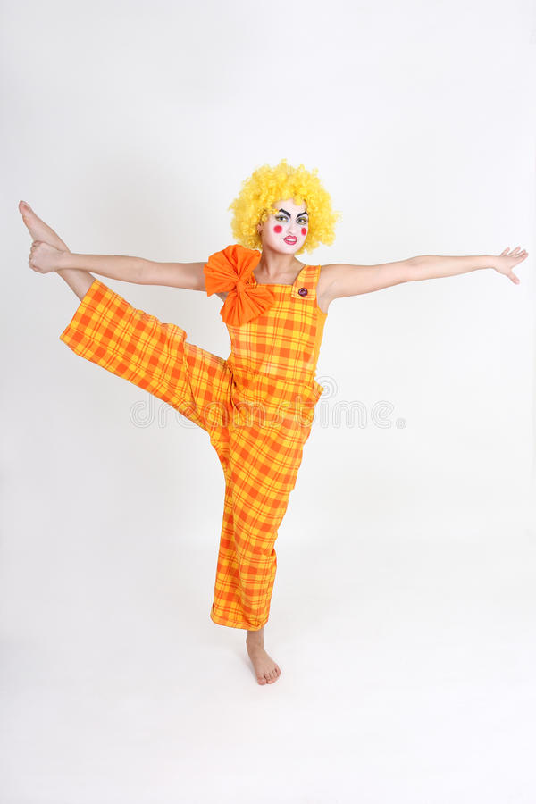 Download Clown In Colourful Costume Doing Gymnastic Stock Image - Image: 24777059