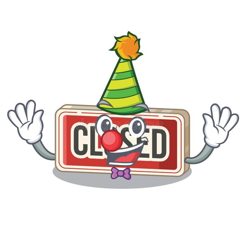 Clown colsed Zeichenspielwaren auf der Karikatur stock abbildung